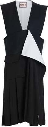 Plan C Layered Wool-Blend Dress