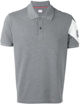 Moncler Gamme Bleu logo patch polo shirt - men - Cotton - S