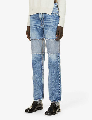 Maison Margiela Reverse-panel straight-leg high-rise jeans