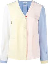 Thom Browne v-neck cardigan - women - Silk - 42