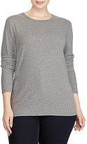 Lauren Ralph Lauren Plus Long-Sleeve Stretch Cotton T-Shirt