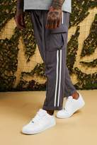 BoohooMAN Smart Woven Cargo Trouser With Tape