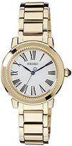 Seiko Women's Quartz Watch with Black Dial Analogue Display Quartz Stainless Steel Coated SRZ450P1