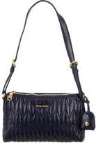 Miu Miu Matelassé Pleated Shoulder Bag
