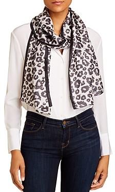 Echo Leopard Print Silk Scarf