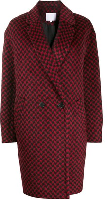 Lala Berlin Houndstooth Patterned Coat