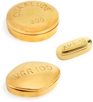 Jonathan Adler Brass Pill Box Bundle