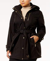 MICHAEL Michael Kors Size Belted Softshell Coat
