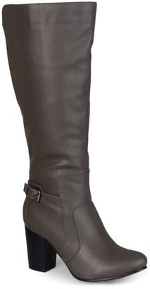 Brinley Co. Women's Buckle Detail High Heeled Boots