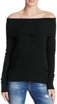 Pam & Gela Destroyed Off-The-Shoulder Sweatshirt