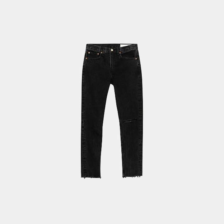 Rag & Bone High Rise Skinny in Black Stone