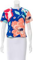 Kate Spade Printed Sleeve Top