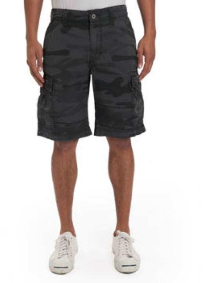 UNIONBAY Men's Lightweight, Cotton Twill, Six Pocket Detailing Cargo Short, Black