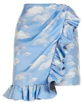 Pinko Cloud Print Mini Skirt