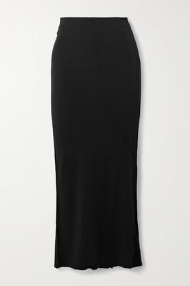 The Line By K Vana Stretch-micro Modal Midi Skirt - Black