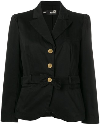 Moschino Pre-Owned 2000's Bow Detail Jacket