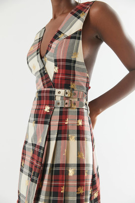Urban Outfitters Chandler Pleated Jumper Dress