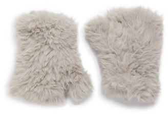 Saks Fifth Avenue Faux Fur Finglerless Gloves