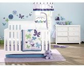 NoJo Beautiful Butterfly 9-Piece Crib Bedding Set by