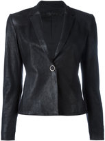 Drome leather blazer - women - Lamb Skin/Polyester/Viscose - S