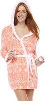Asstd National Brand Long Sleeve Microfleece Robe-Juniors