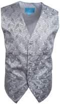 EGC1B08B-L Dim Grey Black Patterned Series For Groomsmen Waistcoat Woven Microfiber Holy Saturday Vest Vest By Epoint