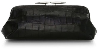 Little Liffner Oyster Croc-Embossed Leather Clutch
