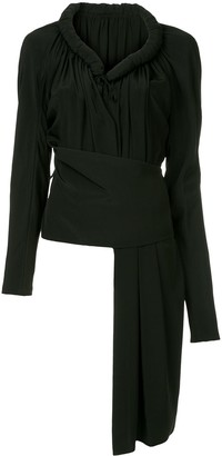Yohji Yamamoto Pre-Owned Long-Sleeve Asymmetric Top