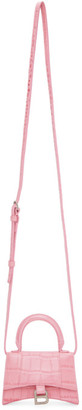 Balenciaga Pink Mini Croc Hourglass Bag
