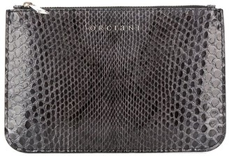 Orciani snake-embossed wallet