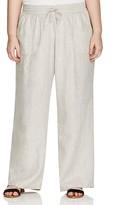 Allen Allen Plus Drawstring Linen Pants