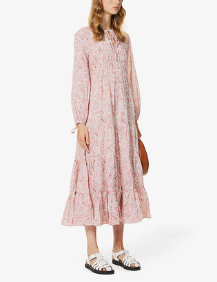 Rixo Lori paisley-print cotton midi dress