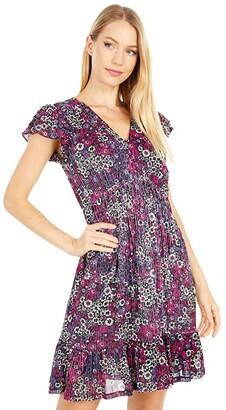 MICHAEL Michael Kors Zinnia Ruched Mini Dress (Azalea) Women's Dress