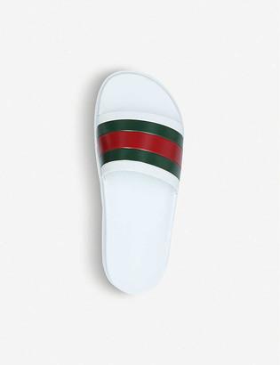 Gucci Pursuit trek rubber slider sandals