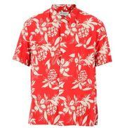 Saint Laurent Red Flower Print Shirt