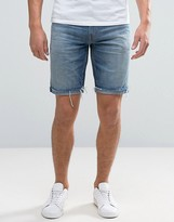 Levis 511 Slim Cut Off Denim Short Hippie Boy Light Wash