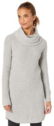 Toad&Co Chelsea Turtleneck Dress (Light Heather Grey) Women's Clothing