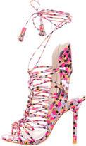 Sophia Webster Metallic Cage Sandals