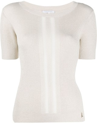Patrizia Pepe fine knit ribbed T-shirt