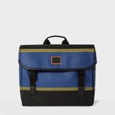Men's Black And Blue Cross Body Bag