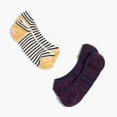 Madewell Two-Pack Striped Low Profile Socks