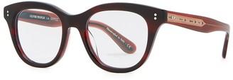 Oliver Peoples Red Wayfarer-style Optical Glasses