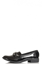 Quiz Black Patent Jewel Loafers