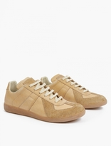 Maison Margiela Nude Leather and Suede Replica Sneakers