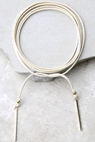 LuLu*s Renegade Gold and Ivory Wrap Necklace