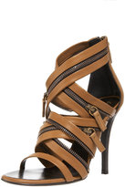 Balmain Zip-Detailed Strappy Sandal