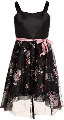 Sequin Hearts Big Girls Belted Tulle Dress