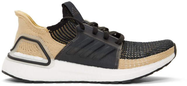 adidas Black and Beige UltraBOOST 19 Sneakers