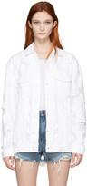 Alexander Wang White Denim Scratch Daze Jacket