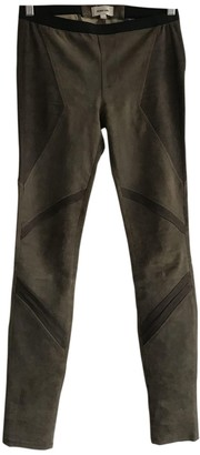 Helmut Lang Green Suede Trousers
